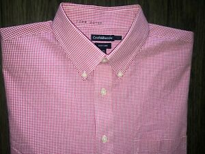Mens Croft & Barrow Easy Care Classic Fit Button Up Shirt Size 16 1/2 34-35