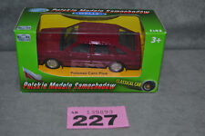 New Welly 1:43 FSO Polonez Caro Plus Poland Passenger Car Burgundy Colour In Box