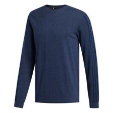 adidas Golf 3-Stripes Crew Neck Cotton Sweater (Collegiate Navy - XL)