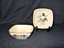 Set of 2 Lenox Catherine McClung Signed Winter Greetings Dipping Bowls New InBox