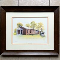 Paul Lewis Art Print Montgomery County Ky Church Artist Signed Matted & Framed