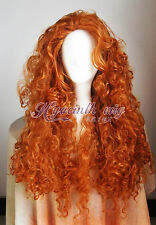 NEWFashion Disney Pixar Animated movie of Brave MERIDA cosplay wig