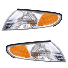 99-01 Toyota Solara Driver & Passenger Side Park Signal Lights Pair Set