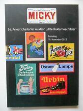 """26. Auktion """"Alte Reklameschilder"""" Micky Waue"""