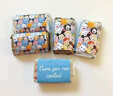 50 DISNEY TSUM TSUM  MINI CANDY BAR WRAPPERS PARTY FAVORS