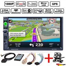 "7""Doppel 2Din Autoradio Touchscreen GPS Navi RDS Bluetooth Mit Rückfahrkamera H5"