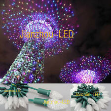 100x WS2811 F8 C9 RGB Candle LED String Programmable Display Board Lamp IP68 12V