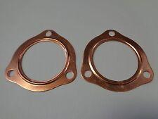 """2 1/2"""" Copper Header Exhaust Collector Gaskets Reusable Sbc Bbc 302 350 454 2.5"""""""