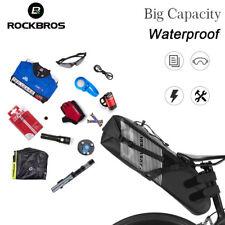 ROCKBROS Waterproof Bik Bicycle Saddle Bag Foldable Large CapacityTail Rear Bag