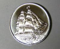 19th Century Clipper Ship Sailing Vessel 1 oz .999 Fine Silver Round (m.rm.tb)