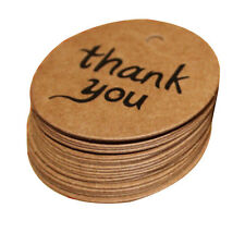 100X4cm Kraft Paper Hang Tags Wedding Party Favor Label thank you Gift Card  M&C