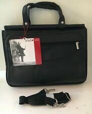 NEW Solo Black Quad Gusseted Compartment Portfolio Brief Case Bag