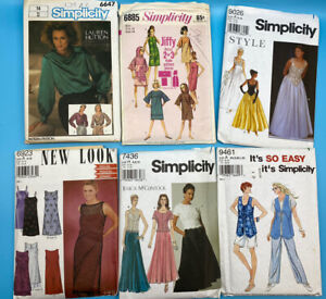 Vintage Lot of 16 Sewing Patterns- New Look, Simplicity & Butterick