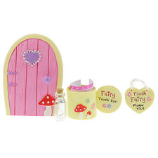 Fairy Friendship Pixie Door And Tooth Box Kids Miniature Figure Set Gift Decor