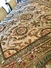 Antique Chenille Embroidered Metallic Gold French Lace Piano Shawl Tablecloth