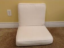 2 pc Frontgate Sorrento Lounge Outdoor Sofa Dining Chair Cushions 21x22 White