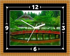 Japanese Landscape Clock Gift Present Christmas Birthday(Can Be Personalised)