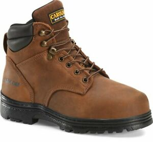"CAROLINA 6"" Brown Leather Internal Metguard Steel Toe Work Boots CA3527"
