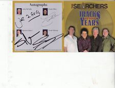 THE SEARCHERS CD TRACKS OF OUR YEARS HAND SIGNED NEVER PLAYED.