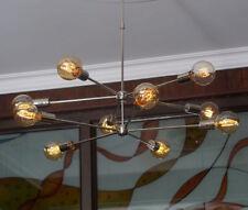 Modern Brass 10 arms Sputnik chandelier Chromed brass Light Fixture