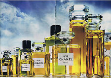 PUBLICITE ADVERTISING 064 1973 CHANEL n°19 différents flacons  (2 pages)