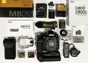 Camara Nikon D800 en perfecto estado + MB-D12 + 2 BATERIAS + 2 TARJETAS CF 32, 8