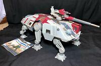 Star Wars Clone Wars Republic AT-TE Tank Vehicle Hasbro LIGHTS SOUNDS MISSILES
