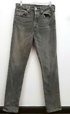 LEVIS Size 7 Gray Wash Button Fly 501s Skinny Jeans