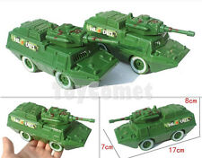 2 pcs Military Armored Vehicle Car 17cm Models Toy Soldier Army Men Accessories