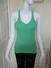 IT'S ALL ABOUT ME - GREEN RIBBED 100% COTTON  VEST Top Size 8