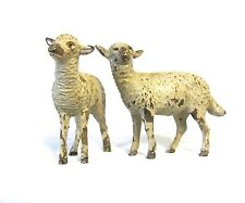Antique Vienna Bronze set of 2 sheeps (#908)