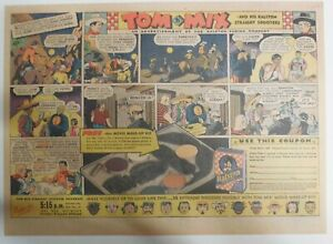 """Ralston Cereal Ad: Tom Mix """"Movie Make-Up Kit"""" Premium 1937 Size:11 x 15 inches"""