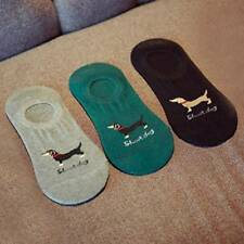 1 Pair Men Boy Dachshund Dog Cartoon Socks Slippers Animal Invisible Cotton Sock