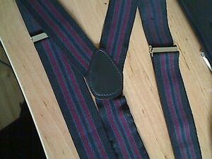 URBANSPIRIT MAN CLIP STRIPY BLACK/RED BRACES