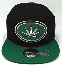 MARIJUANA Leaf Snapback Cap Hat Weed Pot 420 OSFM Adjustable NWT