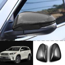 For Toyota Highlander 2015-19 Stainless Carbon Fiber Rearview Mirror Frame Trim