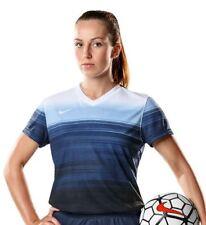 NWT Nike Women's M S/S DQT Game Jersey Soccer Futbol Shirt Blue White $80