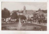 Cary Green & St Johns Church Torquay Devon Vintage RP Postcard 581b