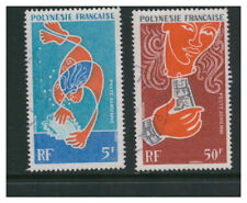 FRENCH POLYNESIA 1970 AIR PEARL-DIVING 5f & 50f VERY FINE USED OFF PAPER
