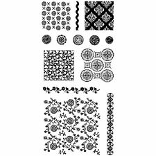 Inkadinkado Clear Stamps - Fabric Shop - Background, Buttons, Borders, Flowers