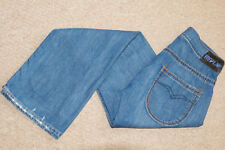 Replay Jeans Mens Straight Loose Fit Low Rise Denim Jeans Blue W27 L34 / 27 Long