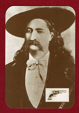 WILD BILL HICKOK Postcard Old West Collectors Series #20b Near Mint