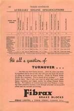 1953 Fibrax Brake Blocks Tudor Street Ad