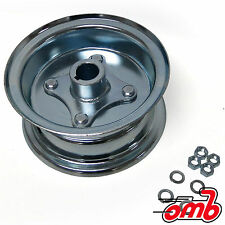 "(2) 5"" Go Kart Live Axle Wheels - Split Steel 2pc Rims - Mini Bikes Drift Trikes"