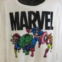 Marvel Avengers Fleece Sweatshirt Women's Size XL Ultra Soft Thor Hulk Iron Man