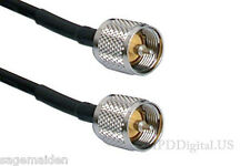 20 inch Jumper Ham Us Made Rg58 Pl259 Male Pl259 Male Connectors Coaxial Cable