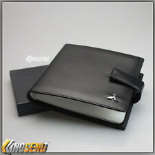 deluxe MITSUBISHI Leather CD Case Car DVD Holder Disc Album Disk Storage Carry