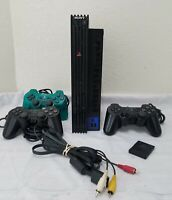 *READ* Sony PlayStation 2 PS2 Fat Console Bundle, 3 Controllers, 8MB, AV & Power