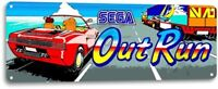 Out Run Classic Arcade Marquee Game Room Garage Wall Art Decor Metal Tin Sign