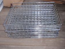 7 STAINLESS STEEL METAL BASKETS FOR OFFICE OR DESK OR PAPER WORK  18 X 13 INCHES